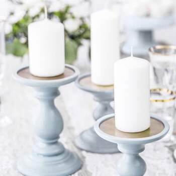Bougie Décorative Blanche Opaque Petite 6 Pièces - The Wedding Shop