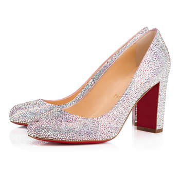Dorothy 85 Suede Metal Strass. Credits: Christian Louboutin