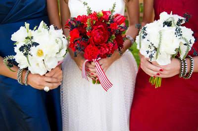 Bleu, blanc, rouge : le charme d'un mariage aux couleurs du drapeau français
