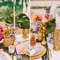 Ślub w stylu karaibskim.Dekoracje stołów.