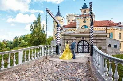 Сказка наяву: желтая свадьба Анастасии и Лаврентия