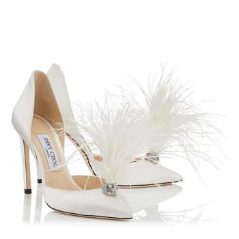 171eb0c7960 Contactez les entreprises mentionnées dans cet article. Jimmy Choo  Chaussures mariée