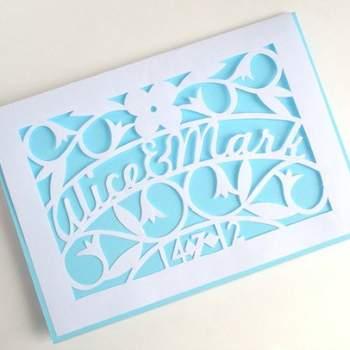 Faire-part de mariage en 3D Boutique PaperMagicInvites sur Etsy.com