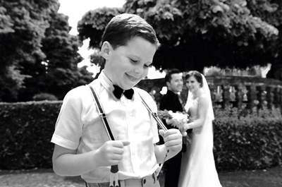 Subir ao altar em tenra idade: as melhores fotos de meninos das alianças