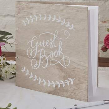 Livre D'or Boho Chic En Bois - The Wedding Shop !