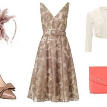 Robe et chaussures House of Fraser, sac New Look, Serre-tête Monsoon. Au top pour un mariage !