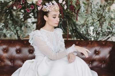 20 vestidos de novia con plumeti 2017 a los que no te podrás resistir. ¡Toma nota!