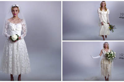 Discover 100 Years of Wedding Dresses in Three Minutes!