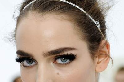 Wedding make up trends for 2012- remember to flutter those lashes!