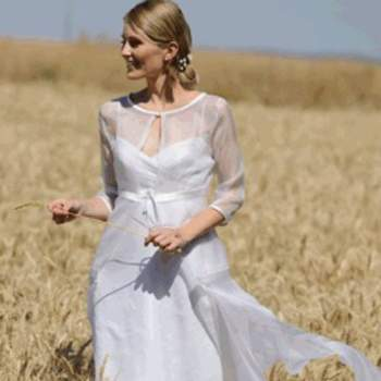 Robe de mariée New Garrance, vue de face - Crédit photo: Catherine Varnier