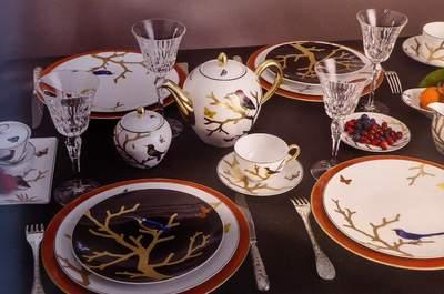 Offrez-vous le luxe de mettre des objets d'art de la table sur votre liste de mariage