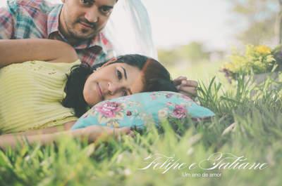 Bodas de Papel: 1 ano de casados com uma e-session super romântica