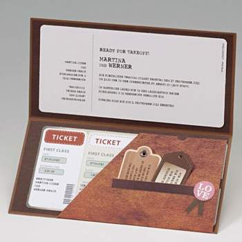 """Einladung im Stil von Eintrittskarten  <a href=""""http://www.cela-shop.de"""">http://www.cela-shop.de</a>"""
