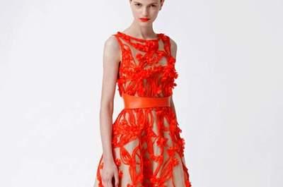 Vestido de noiva laranja: uma excentricidade Halloween style