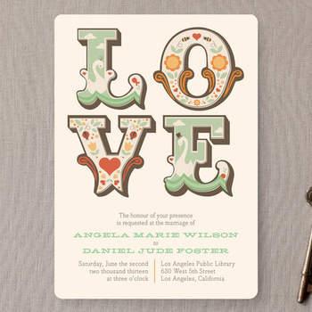 Invitaciones de boda estilo vintage