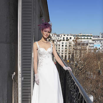 Photo : Les Mariées de Talia - Bella Créations, robe Rebecca