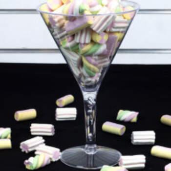 Tasse martini transparent pour buffet de dragées - The Wedding Shop