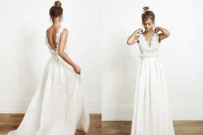 Descubre estos looks de novia para una boda en la playa