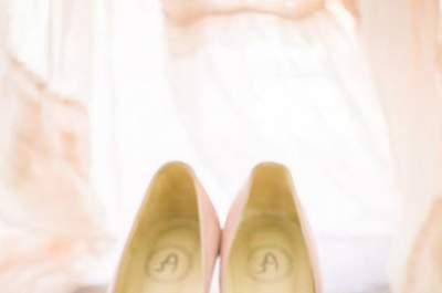 Zapatos de colores llamativos para novias y novios. ¿Habías pensado en neón?