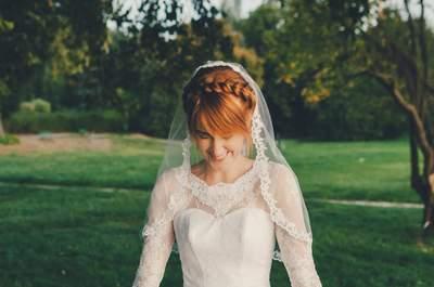 Fryzury ślubne z grzywką, idealne w dniu ślubu!