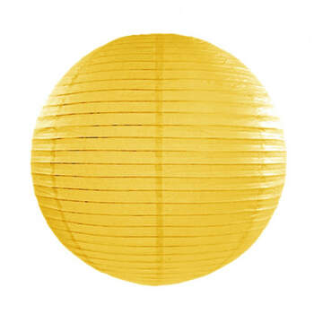 Esfera de papel para iluminar amarillo 25cm- Compra en The Wedding Shop