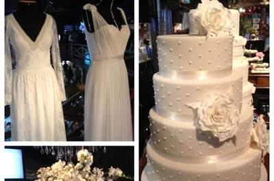 Branco, a primeira cor das noivas. Vestidos de noiva da M.Gio, bolo de casamaento da Fleur de Sucre e a cascata de Orquideias no blog