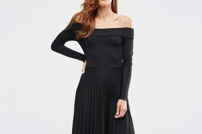 Elegantes vestidos de fiesta negros cortos 2017. ¡Un clásico de la moda!