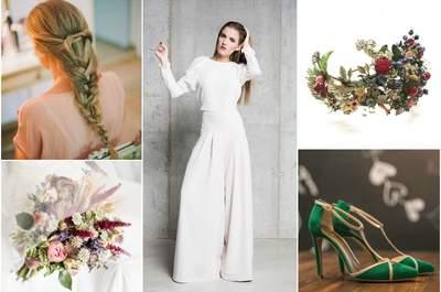 El estilismo de la semana: ¿Eres original y atrevida? Apuesta por el pantalón palazzo para tu look de novia