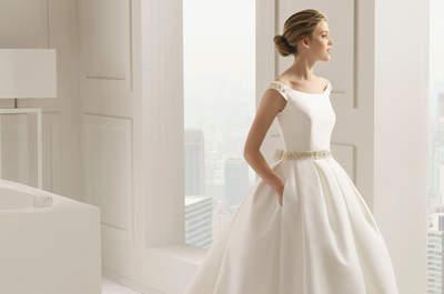Suknie ślubne z półokrągłym dekoltem: szyk i elegancja 2015 roku!