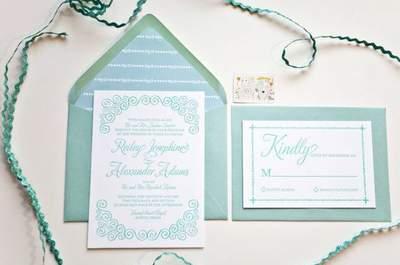 Blaue Hochzeitseinladungen - bereits vor der Hochzeit etwas