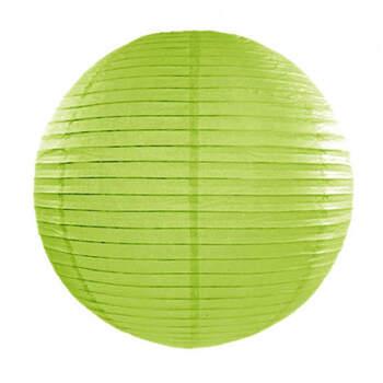 Esfera de papel para iluminar verde manzana 25cm- Compra en The Wedding Shop