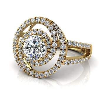 Photo : Diamants et Carats - Modèle : Benicia  0.80carats en or jaune