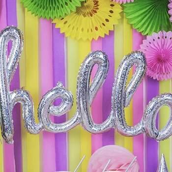 Décoration bandes lilas 4 pièces - Achetez sur The Wedding Shop !