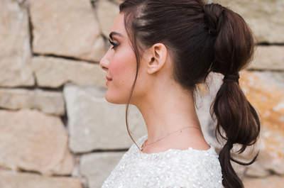 Más de 20 peinados de novia con cola con los que deslumbrarás. ¡Lucirás radiante!