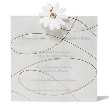 """Einladung mit Blume  <a href=""""http://www.cela-shop.de"""">http://www.cela-shop.de</a>"""