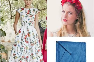 Look de la semana: invitada con vestido estampado