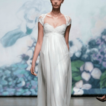 Elegante vestido de noiva.