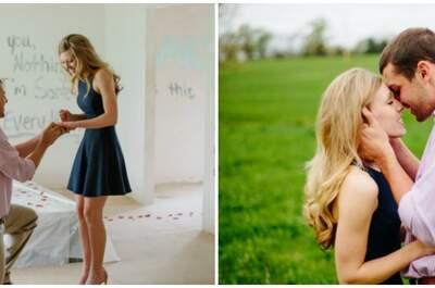 Ein Heiratsantrag an Wände geschrieben ...