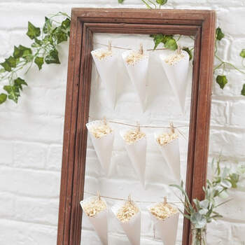 Conos de arroz blanco 10 unidades - The Wedding Shop