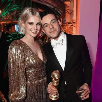 Rami Malek e Lucy Boynton   Foto Instagram