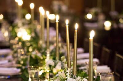 Decoración de matrimonio con velas. ¡Apuesta por un estilo romántico!