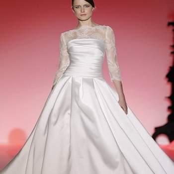 Robe de mariée à la jupe ultra volumineuse. Photo : Barcelona Bridal Week