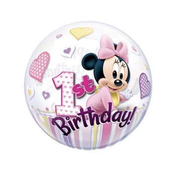 Ballon Bubble Baby Minnie 1st Birthday - The Wedding Shop !