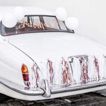Kit Voiture Complet Just Married Rose Or - The Wedding Shop !