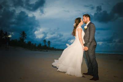 Destination wedding de Amana e Januário: noiva LINDA na beira da praia de Punta Cana!