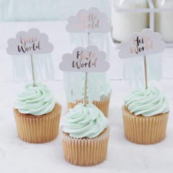 10 piezas de toppers en la nube- Compra en The Wedding Shop