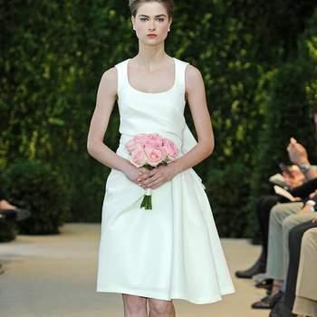Vestido corto para las novias que opten por una boda civil. Modelo Ally. Foto: Carolina Herrera.