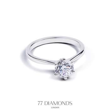 Anel de noivado 77 Diamonds