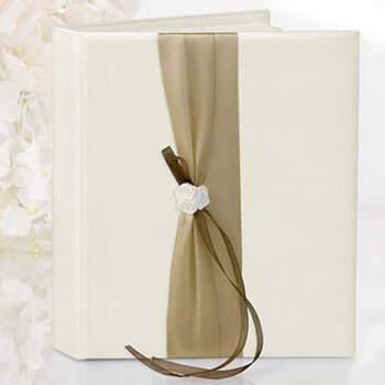 Libro de firmas clásico en dorado- Compra en The Wedding Shop
