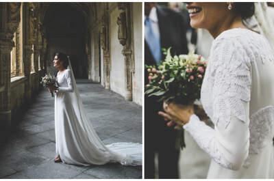 Vestido de Inés Martín Alcalde. Foto: Patricia Grande Photography